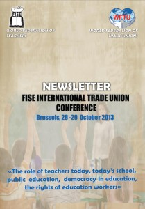 Newsletter FISE International Trade Union Conference