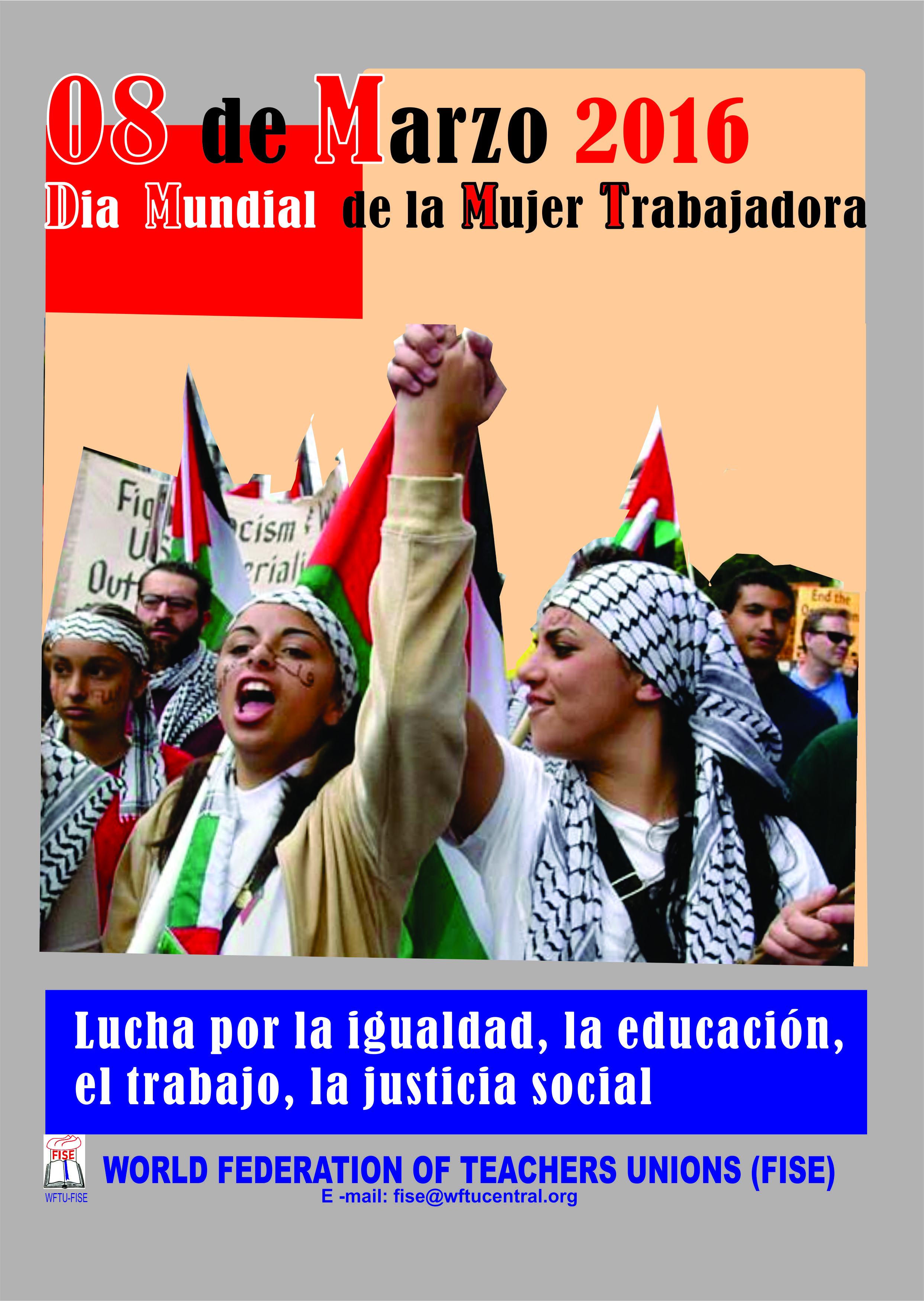 8 Marzo Dia Mundial de la Mujer Travajadora